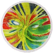 Le Bon Temps Round Beach Towel
