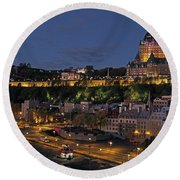 Le Chateau Frontenac  Round Beach Towel