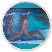 Le Hawaiane  Round Beach Towel
