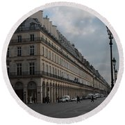 Round Beach Towel featuring the photograph Le Meurice Hotel, Paris by Christopher Kirby