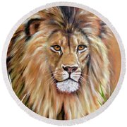 Le Roi-the King, Tribute To Cecil The Lion   Round Beach Towel