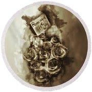 Les Roses De Paris Round Beach Towel by Jack Torcello
