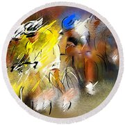 Le Tour De France 05 Round Beach Towel