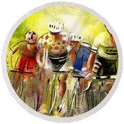 Le Tour De France 07 Round Beach Towel