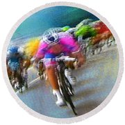 Le Tour De France 09 Round Beach Towel