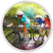 Le Tour De France 11 Round Beach Towel