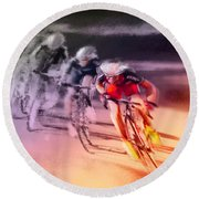 Le Tour De France 13 Round Beach Towel
