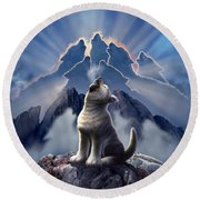 Leader Of The Pack Round Beach Towel by Jerry LoFaro