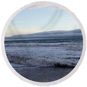 Leading Edge Round Beach Towel by Michael Courtney