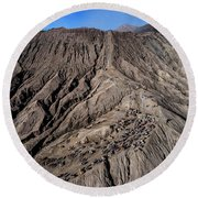 Leading To The Volcano Crater Round Beach Towel