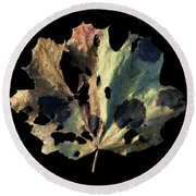 Leaf 16 Round Beach Towel