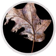 Leaf 2 Round Beach Towel