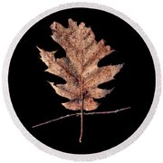 Leaf 22 Round Beach Towel