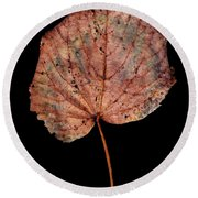 Leaf 8 Round Beach Towel
