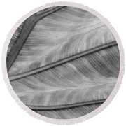 Leaf Abstraction Round Beach Towel