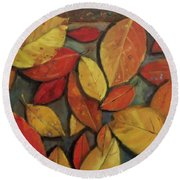 Leaf Collection Round Beach Towel