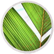 Round Beach Towel featuring the photograph Leaf Detail 2 by Jerry Sodorff