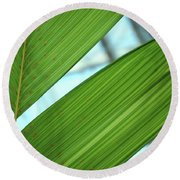 Round Beach Towel featuring the photograph Leaf Detail 5 by Jerry Sodorff
