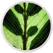 Leaf Detail Round Beach Towel