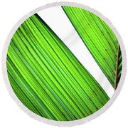 Round Beach Towel featuring the photograph Leaf Detail by Jerry Sodorff