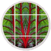 Leaf Of Life Round Beach Towel