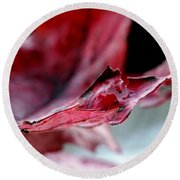 Leaf Study II Round Beach Towel
