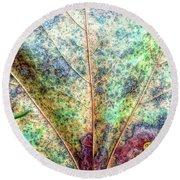 Leaf Terrain Round Beach Towel