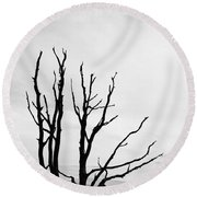 Leafless Tree Round Beach Towel