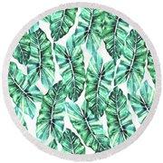 Leafy Wonder V2 Round Beach Towel