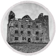 Leamaneh Castle Round Beach Towel by Martina Fagan