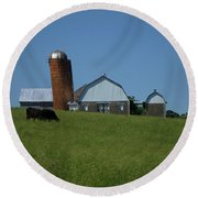Round Beach Towel featuring the photograph Lean Beef by Robert Geary
