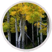 Leaning Aspen Round Beach Towel