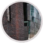Round Beach Towel featuring the photograph Leaning In At The High Line by Rona Black
