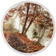 Leaning Tree Round Beach Towel