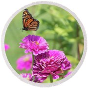 Leaping Butterfly Round Beach Towel