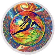 Leaping Home Round Beach Towel