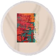 Learning Curve One Round Beach Towel