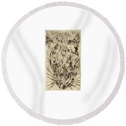 Learning To Love Rats More #2 Round Beach Towel