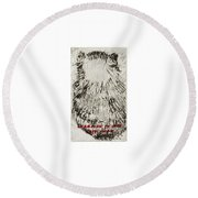Learning To Love Rats More #3 Round Beach Towel