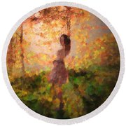 Round Beach Towel featuring the photograph Leave The Past by Rose-Maries Pictures