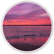 Leave Us To Dream 2 Round Beach Towel