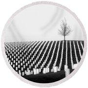 Leavenworth National Cemetery  Round Beach Towel