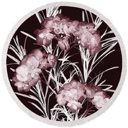 Leaves And Petals II Round Beach Towel