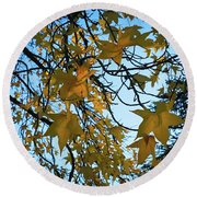 Leaves Round Beach Towel by Cendrine Marrouat