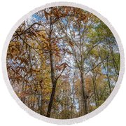 Leaves Changing Round Beach Towel
