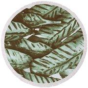 Leaves No. 3-1 Round Beach Towel