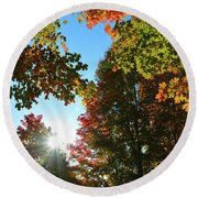 Leaves Of Change Round Beach Towel