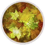 Leaves Round Beach Towel