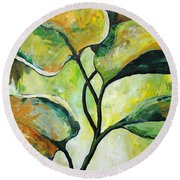 Leaves2 Round Beach Towel