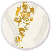 Lebron James Cleveland Cavaliers Pixel Art 11 Round Beach Towel